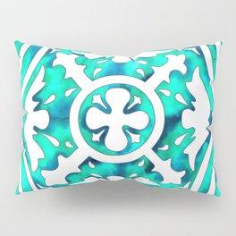 Turquoise Tile Pillow Sham