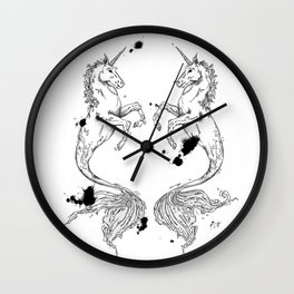 Mermaidunicorns Wall Clock