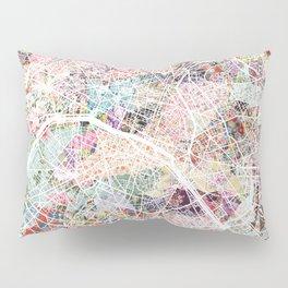 Paris map Pillow Sham