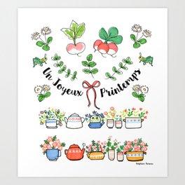 Un joyeux printemps Art Print