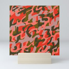 Coral Camouflage 2 Mini Art Print