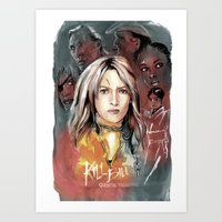 kill bill Art Prints featuring Kill Bill by RJ Artworks