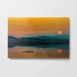 Serene Sunrise by the Lake Metal Print
