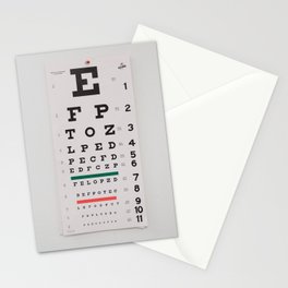 Eye Test Chart - Minimalist Photography Stationery Cards