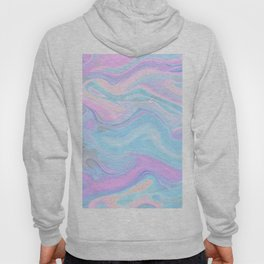 Sea Marble Candy Pattern - Violet, Aqua and Blue Hoody