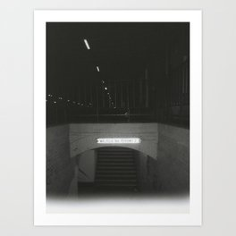 entrance to the other side, train platform, mystery in starogard szczeciński Art Print