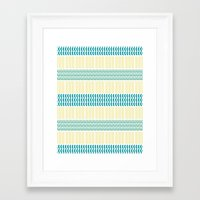 knit Framed Art Prints featuring Knit Pattern by K&C Design