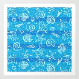 Crystal Blue Sea Art Print