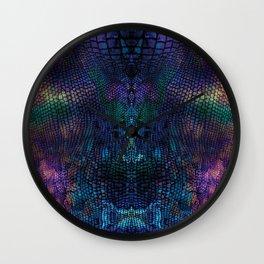 Violet snake skin pattern Wall Clock