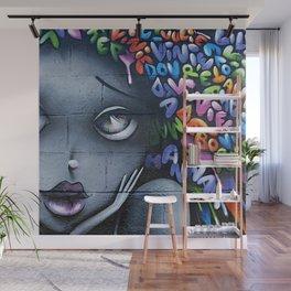 girl letters grafitti Wall Mural
