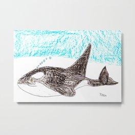 Orca Baby Metal Print