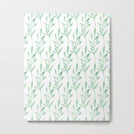 Botanical Stripes Metal Print