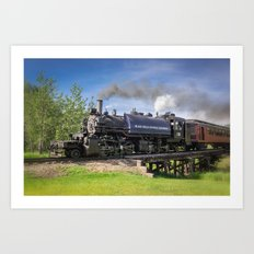 Full Steam Ahead Art Print