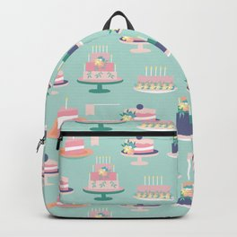 Colorful cakes in a seamless pattern design Backpack