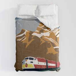 vintage CP rail poster Comforters