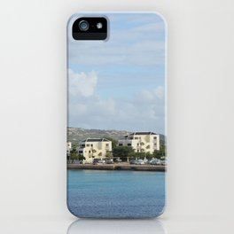 Bonaire Kralendijk Harbor Sailing Boats iPhone Case