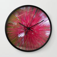 indonesia Wall Clocks featuring Flower (Bali, Indonesia) by Christian Haberäcker - acryl abstract