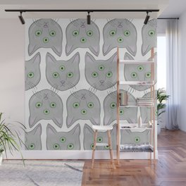 Cat Pattern Wall Mural