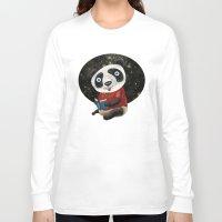 red panda Long Sleeve T-shirts featuring Panda by gunberk