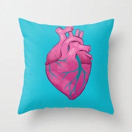 Hearts 01 - Human Heart Throw Pillow