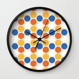 Location Dots Wall Clock