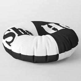 She vs He Floor Pillow
