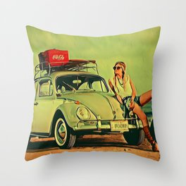 If my Beetle Spoke Throw Pillow