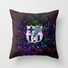 Watercolor Barcelona FC Throw Pillow