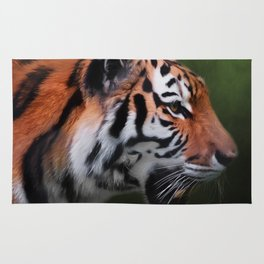 A Leader - Siberian Tiger Art Rug