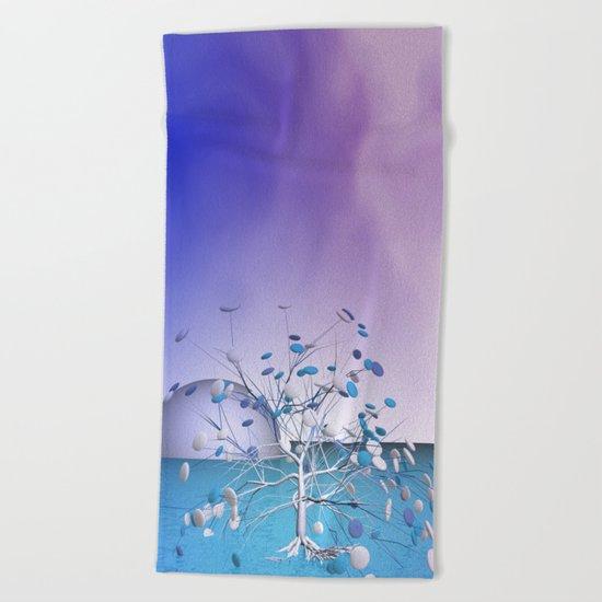 window curtain - candytree Beach Towel