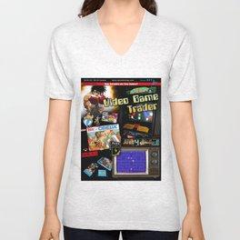 Video Game Trader #21 Cover Design  Unisex V-Neck