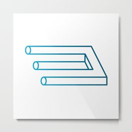 Blivet illusion Metal Print