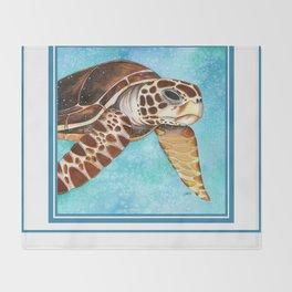 Hawksbill Turtle Throw Blanket