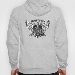 Aviation Clothing, born to fly, single-engine illustration. Hoody