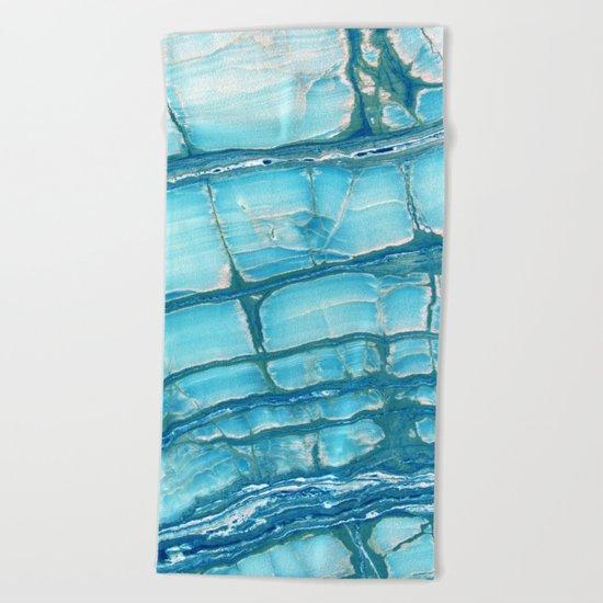 Blue onyx marble Beach Towel