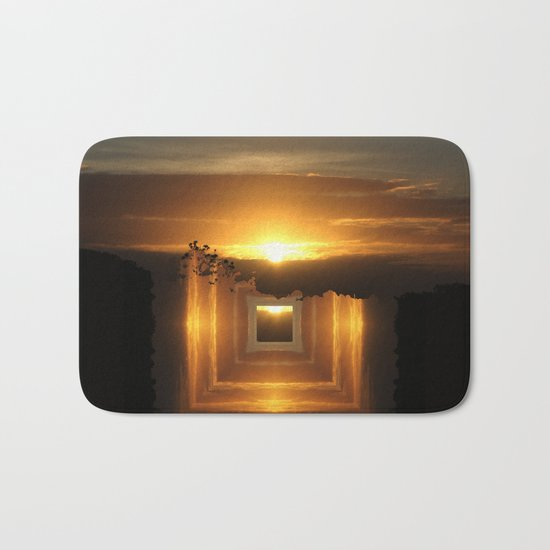 Catch a little sunrise and save it for a rainy day Bath Mat