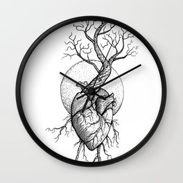 ROOTS OF THE HEART Wall Clock