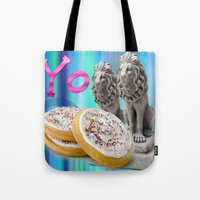 cookies Tote Bags featuring COOKIES! by Aldo Couture