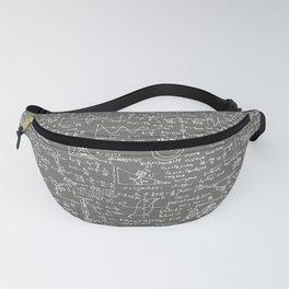 Physics Equations // Slate Grey Fanny Pack