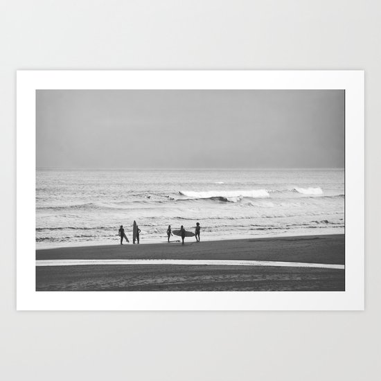 Before surfing Art Print
