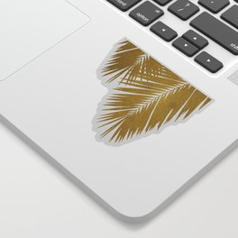 Palm Leaf Gold II Sticker