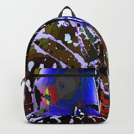Vivid Foliage in blue Backpack