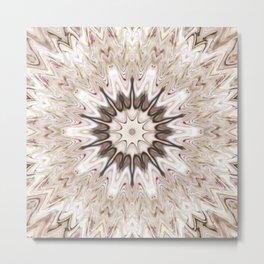 White Wave Metal Print