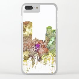 Little Rock, Arkansas Skyline - Faded Glory Clear iPhone Case