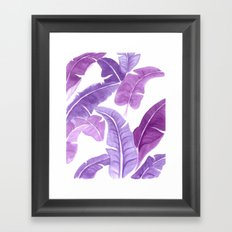 Purple Palms Framed Art Print