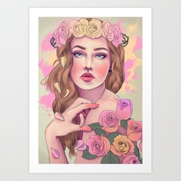 Petals and Thorns 2016 Art Print