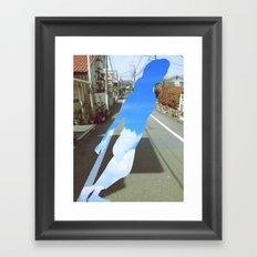 skygirl Framed Art Print