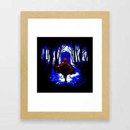 Shadow Light Of Tardis Framed Art Print
