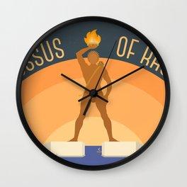 World Wonder: Colossus of Rhodes Wall Clock