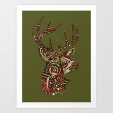 ROAD KILL ~ GREEN Art Print